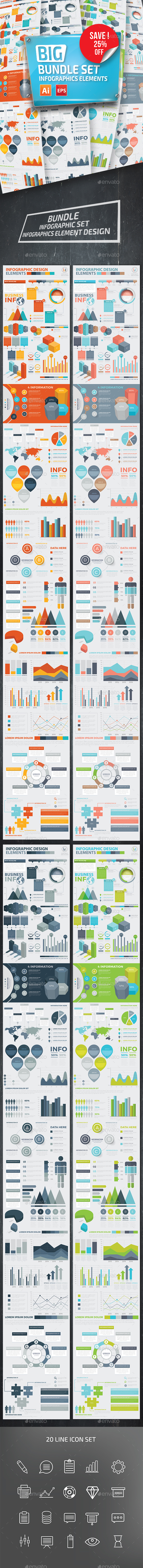 GraphicRiver Bundle Infographic Elements 20357751