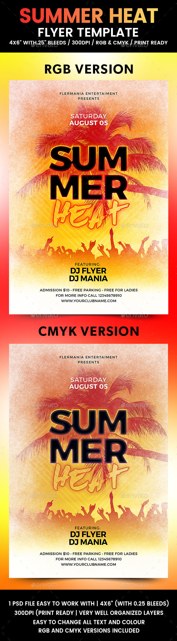 Summer Heat Flyer Template - Flyers Print Templates