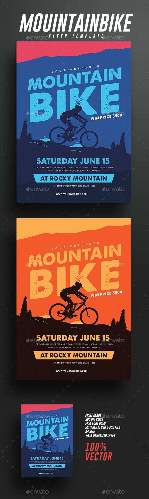 Mountain Bike Event Flyer - Sports Events