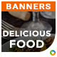 Cafe & Restaurant HTML5 Banners - 7 Sizes - Elite-CC-119 - CodeCanyon Item for Sale