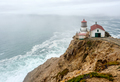 Point Reyes Lighthouse at Pacific coast, built in 1870 - PhotoDune Item for Sale