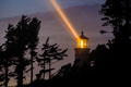 Heceta Head Lighthouse at night, built in 1892 - PhotoDune Item for Sale
