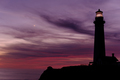 Pigeon Point Lighthouse at sunset, built in 1871 - PhotoDune Item for Sale