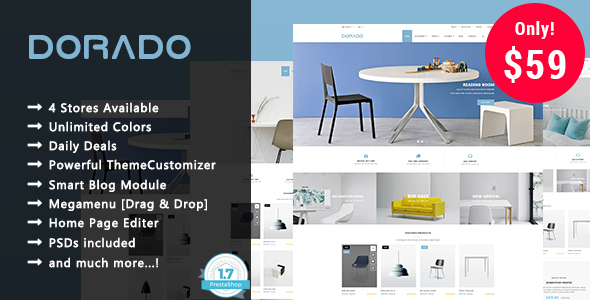 Dorado - Furniture Responsive Prestashop 1.7 Theme
