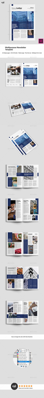 Blue Multipurpose Newsletter - Newsletters Print Templates