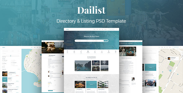 Dailist - Directory & Listing PSD Template - Corporate PSD Templates