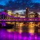 Night time panorama of Brisbane city with Story Bridge - PhotoDune Item for Sale