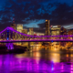 Vibrant night time panorama of Brisbane city with Story Bridge - PhotoDune Item for Sale
