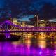 Vibrant night time panorama of Brisbane city with Story Bridge - PhotoDune Item for Sale