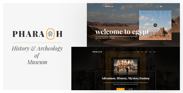 Pharaoh - Museum & Exhibition HTML Template - Nonprofit Site Templates