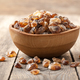 Brown sugar crystals in wooden bowl - PhotoDune Item for Sale