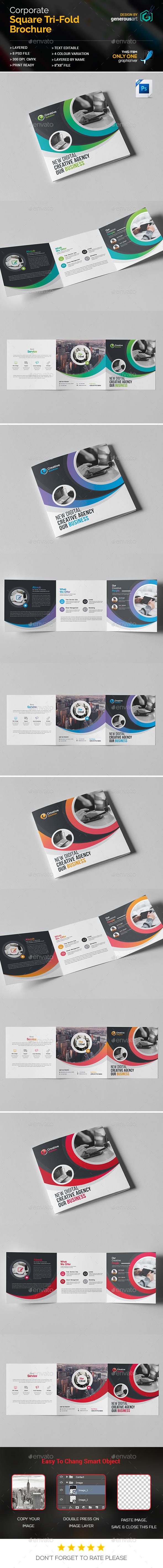 Square Tri-Fold Brochure - Brochures Print Templates