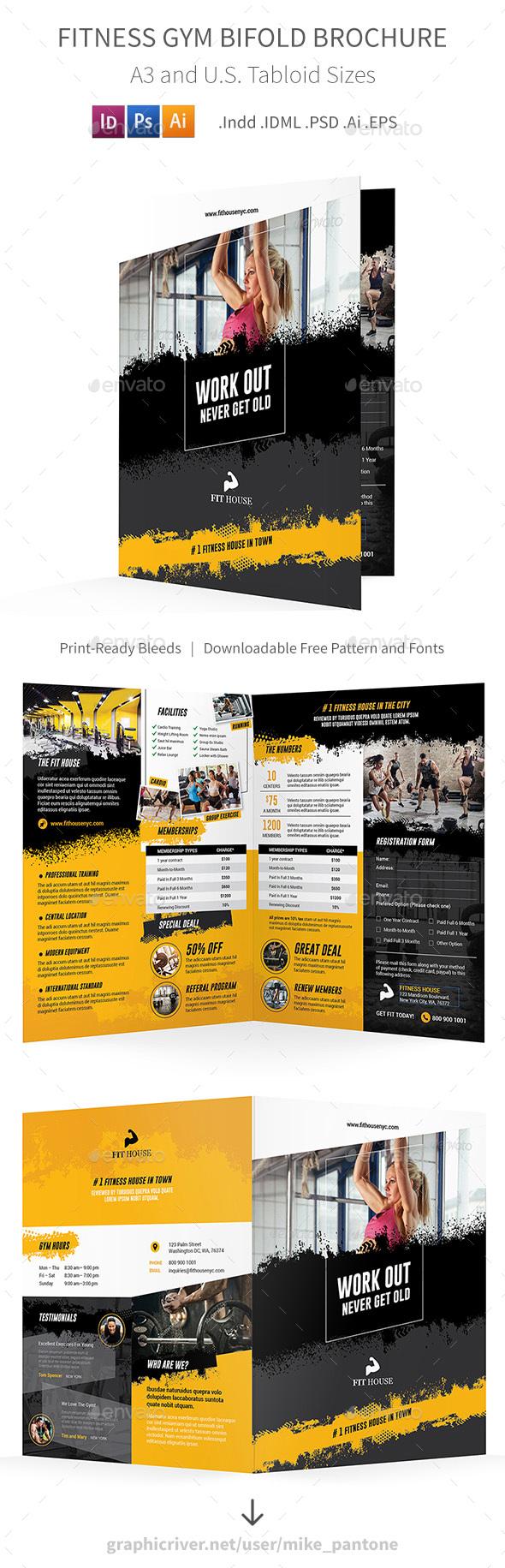 Fitness Bifold / Halffold Brochure 5 - Informational Brochures