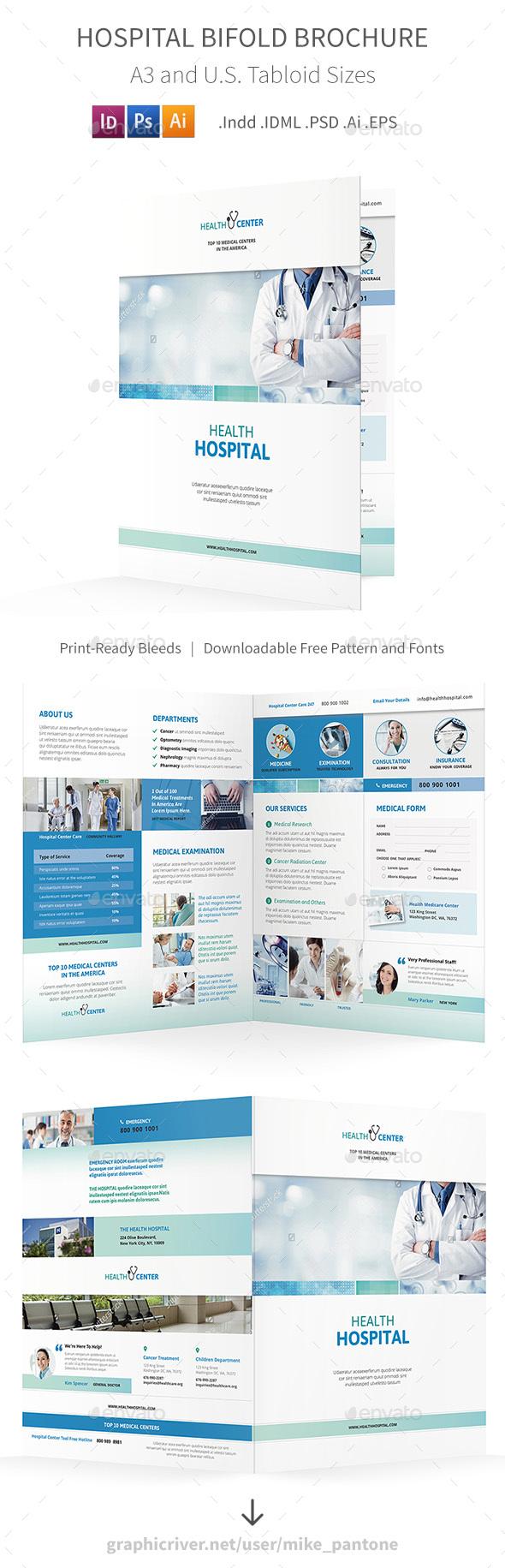 Hospital Bifold / Halffold Brochure - Informational Brochures