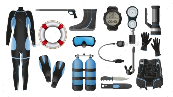 Equipment for Diving - Man-made Objects Objects