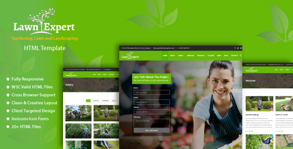 Download Lawn Expert - Gardening, Lawn and Landscaping HTML Template