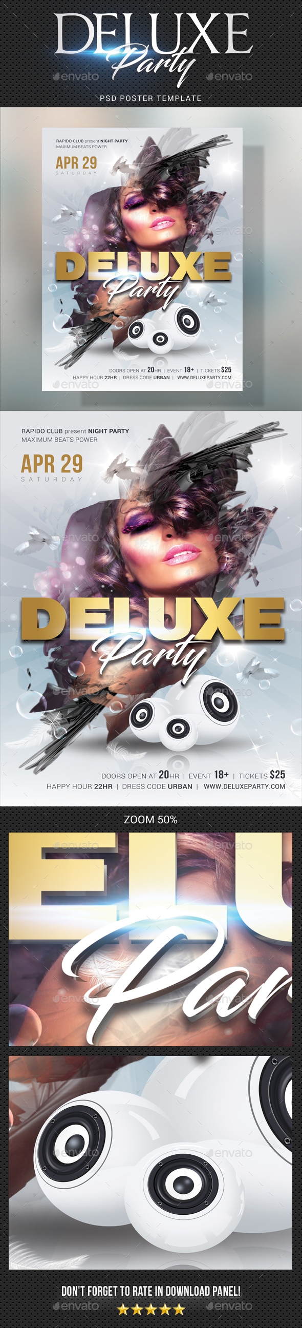 Deluxe Dj Party Poster 2 - Signage Print Templates