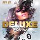 Deluxe Dj Party Poster 2 - GraphicRiver Item for Sale