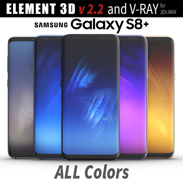 3DOcean Samsung Galaxy S8 PLUS ALL Colors 20359439