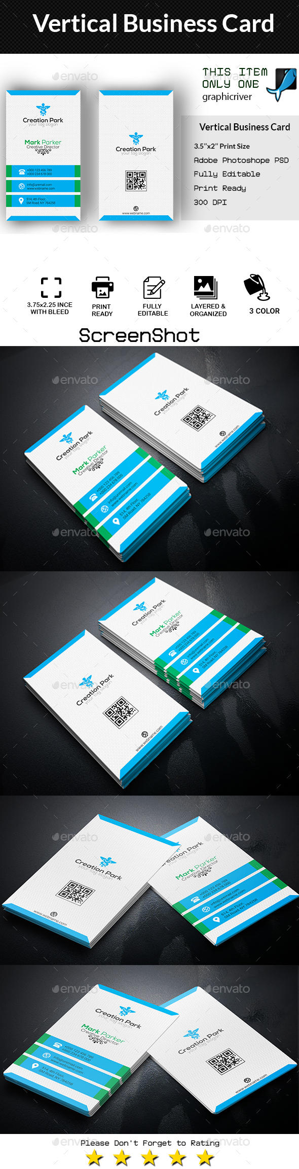 GraphicRiver Vertical Business Card 20359486