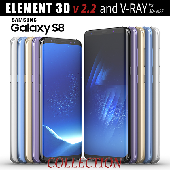 Samsung Galaxy S8 and S8 PLUS COLLECTION - 3DOcean Item for Sale