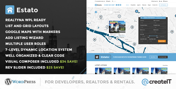 Estato - WordPress Theme for Real Estate and Developers - Real Estate WordPress