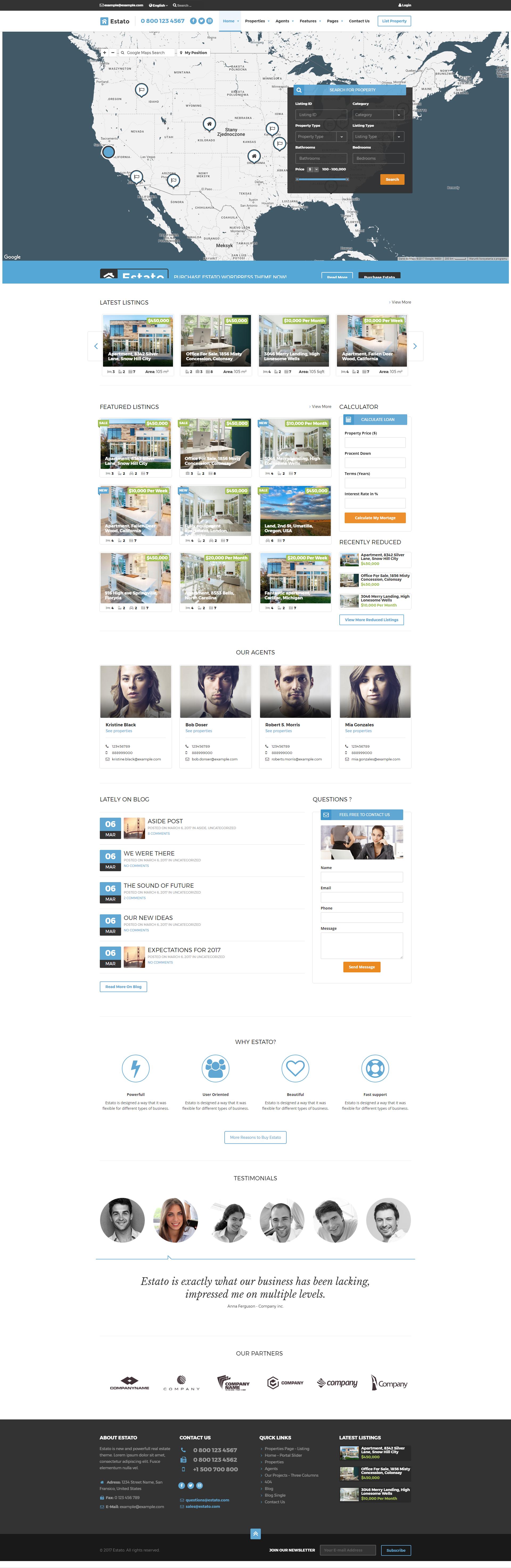 Estato - WordPress Theme for Real Estate and Developers
