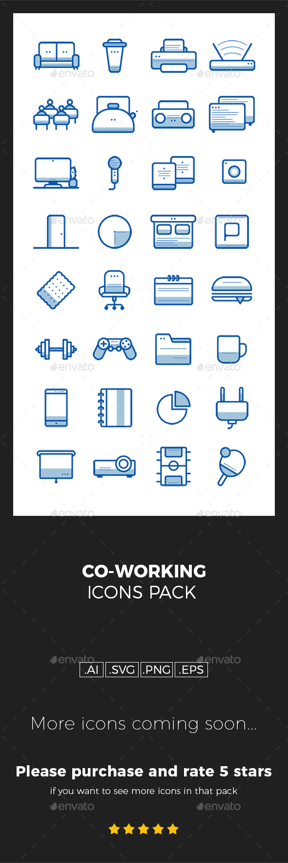 Coworking icons pack - Objects Icons