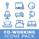 Coworking icons pack - GraphicRiver Item for Sale
