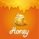 Natural Honey Poster in Cartoon Style - GraphicRiver Item for Sale