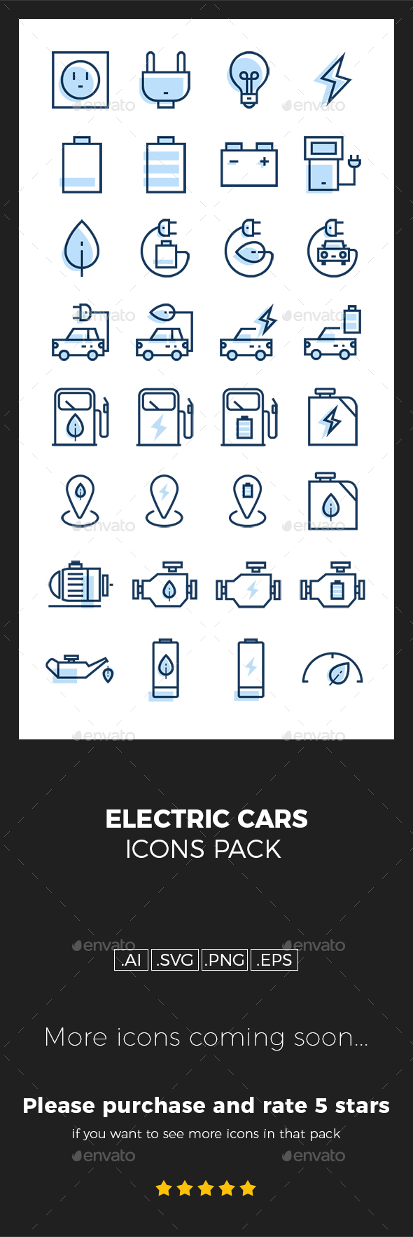 Electric cars icons pack - Technology Icons