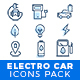 Electric cars icons pack - GraphicRiver Item for Sale