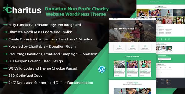 Charitus - Charity Donation Fundraising WordPress Theme