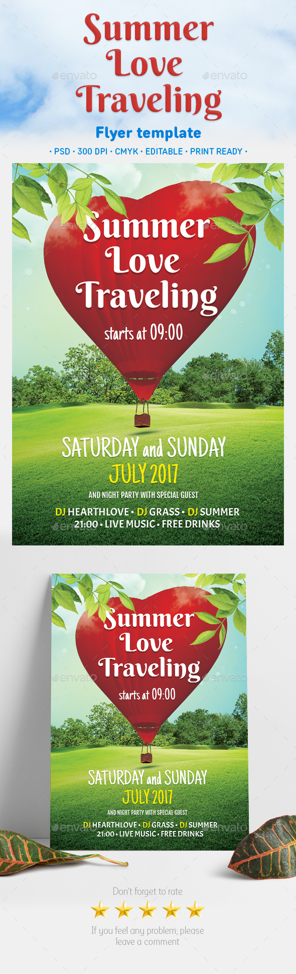 Summer Love Traveling - Events Flyers