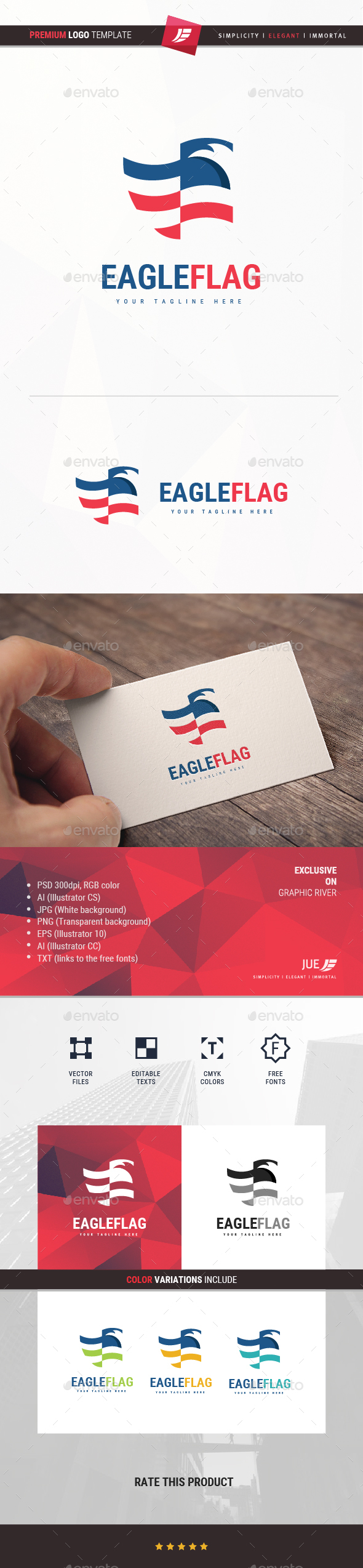 GraphicRiver Eagle Flag Logo 20359864