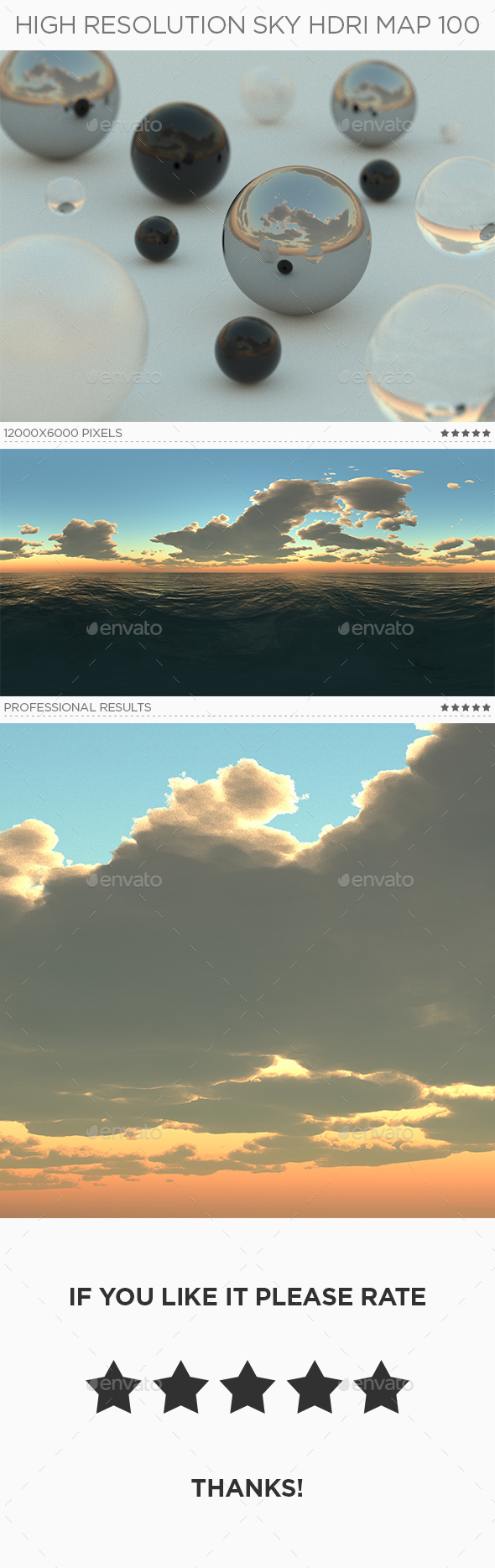High Resolution Sky HDRi Map 100 - 3DOcean Item for Sale