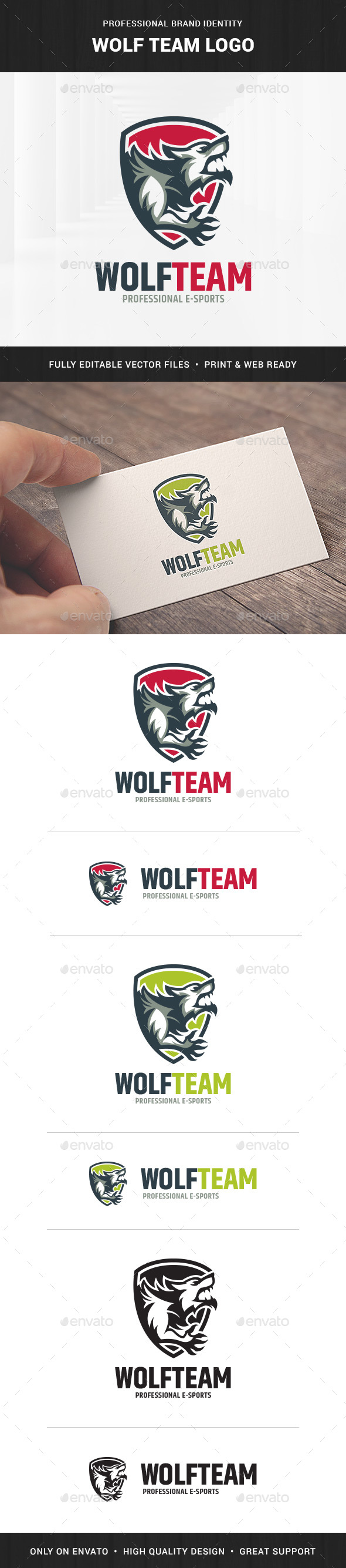Wolf Team Logo Template - Animals Logo Templates
