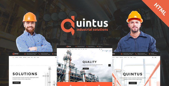 Image of Quintus - Industry / Factory / Engineering HTML5 Template