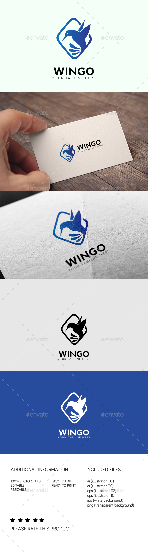 Wingo Logo - Animals Logo Templates