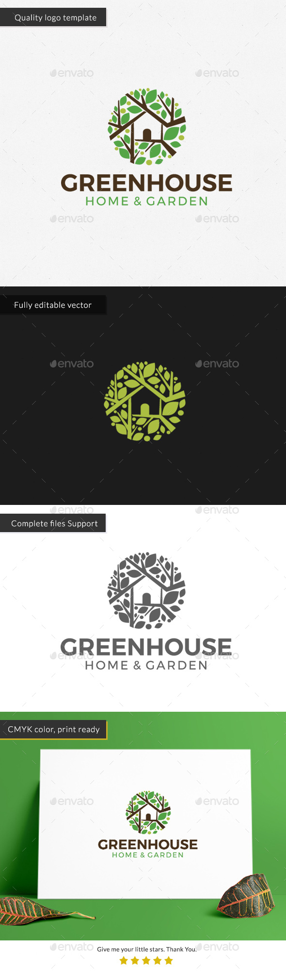 GraphicRiver Green House Logo Template 20360207