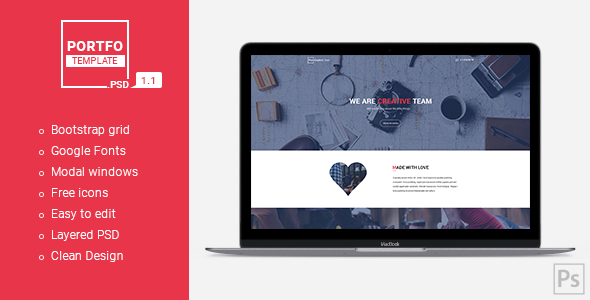 PORTFO – Website PSD Template