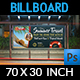 Tour and Travel Billboard Template Vol.3 - GraphicRiver Item for Sale
