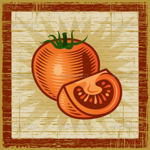 Retro Tomato - Food Objects