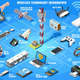 Vector Smartphone and Wireless Devices Isometric Infographic - GraphicRiver Item for Sale