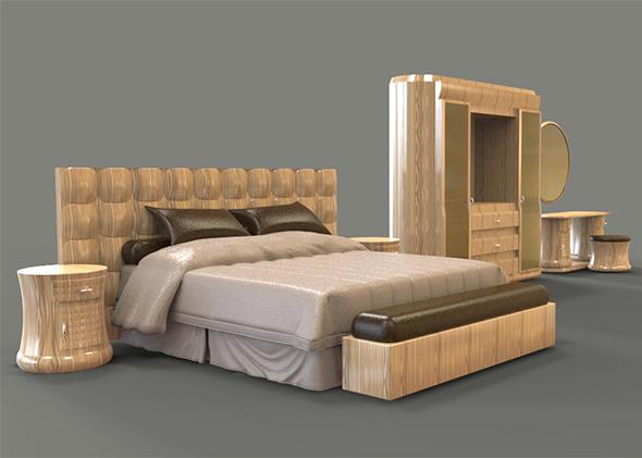 Crystal Bedroom oak wood - 3DOcean Item for Sale