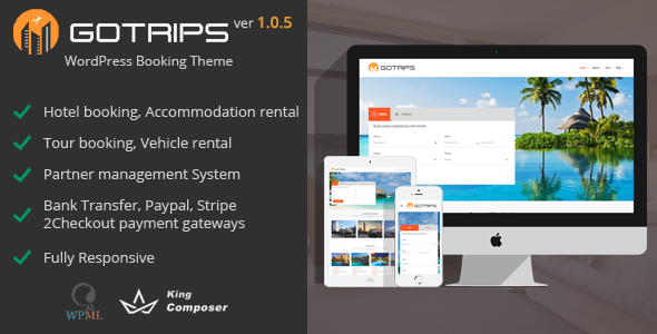 Gotrips | WordPress Booking Theme - Travel Retail