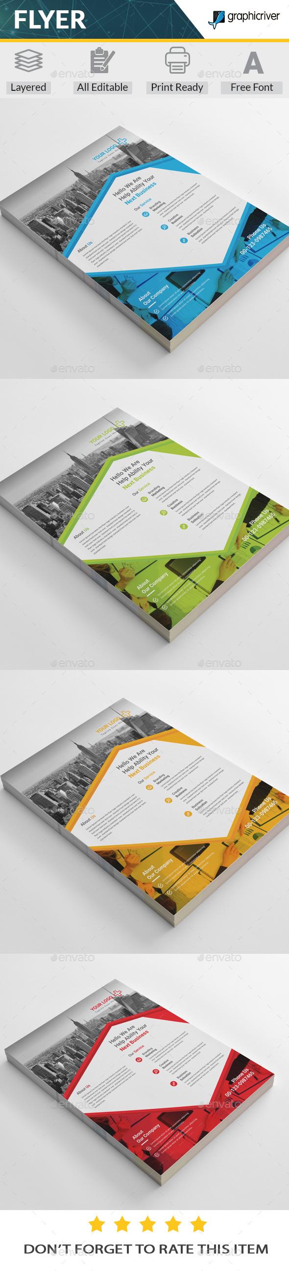 GraphicRiver Corporate Flyer 20361269