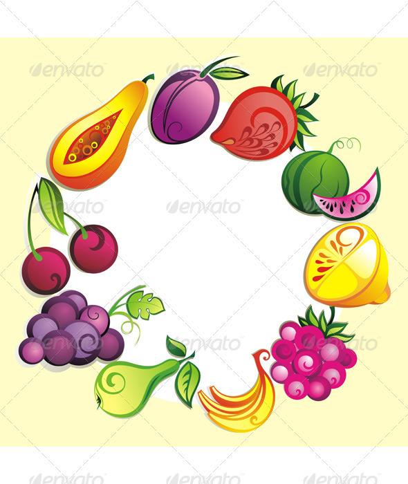 Fruit set - Food Objects