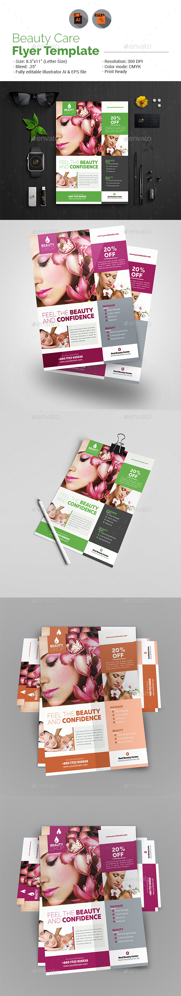 GraphicRiver Beauty Flyer Template 20361699