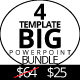 Bundle 4in1 Multipurpose Powerpoint Template